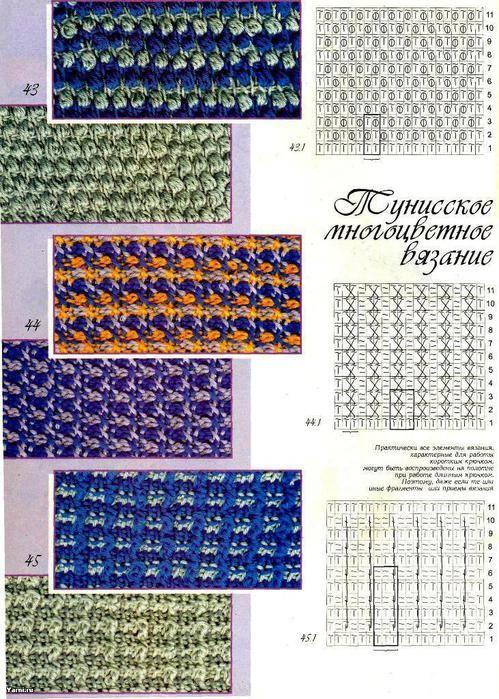 Uncinetto Tunisino Schemimodellitutorial Tunisian Crochet