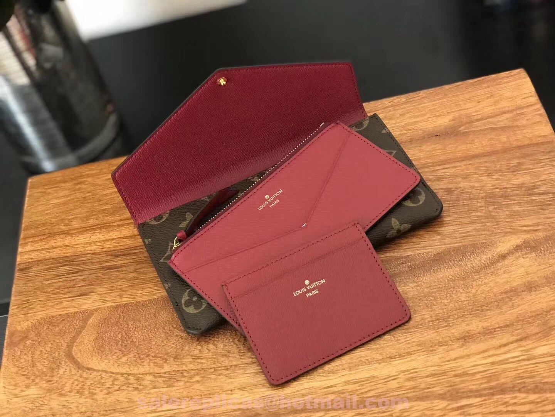 e4ce0900a5b0 replica Louis Vuitton Jeanne Wallet M62155 - Fuchsia 4