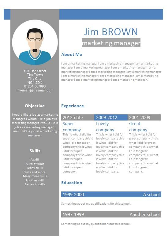 How To Write A Profile Resume Profile Cv Template  How To Write A Cv  Cv Template Master .
