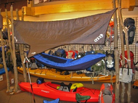 ENO Hammocks! Who needs a tent? From thebasecamp.com!