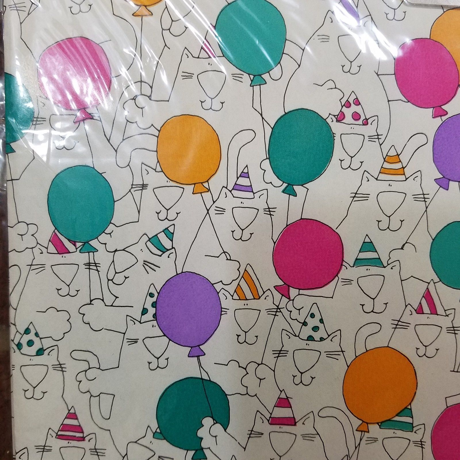 7140058b5 Details about VTG New American Greetings Birthday Cat Balloon ...