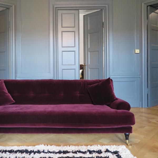 Blanca Red Velvet Sofa Is Crafted Using Luxurious Italian Velvet Made From 100 Cotton Creating A Truly Comfortable And Styl Red Velvet Sofa Velvet Sofa Sofa