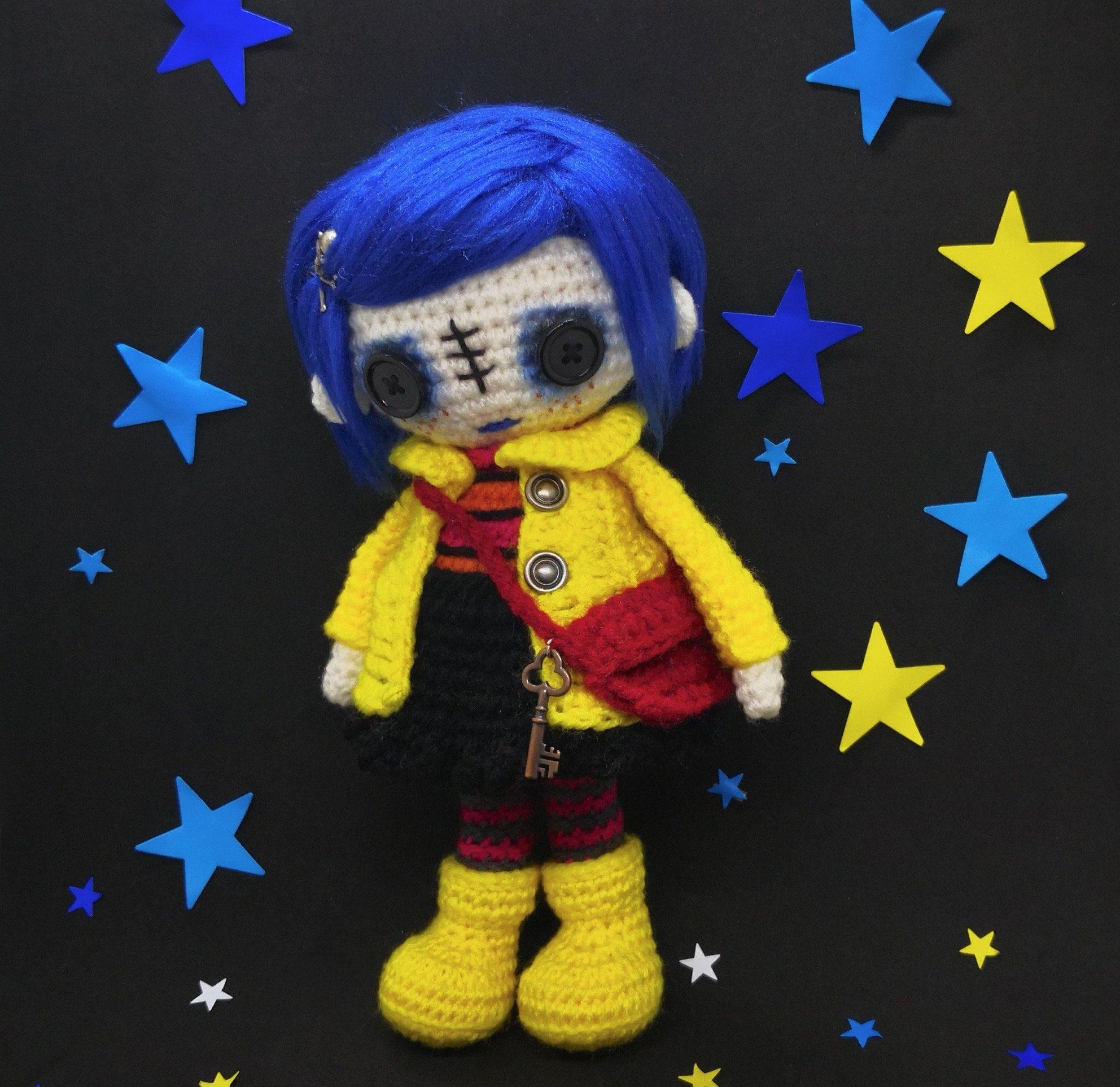 Crochet Pattern Coraline Coraline Doll Coraline Amigurumi Voodoo Doll Halloween Doll Witch Doll Whimsical C Crochet Doll Pattern Witch Doll Coraline Doll