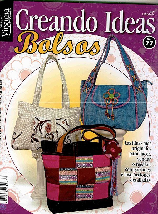 a60430b97 revista con patrones gratis para crear bolsos de tela Hacer Bolsas De Tela,  Bolsos De