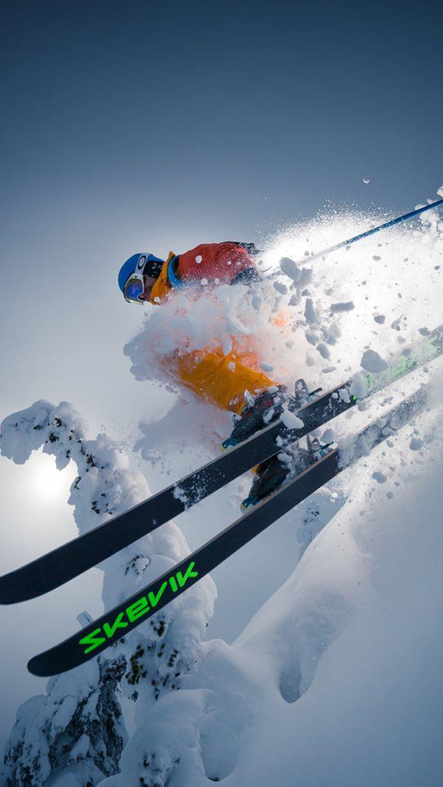 Cool Alpine Skiing IPhone 5s Wallpaper