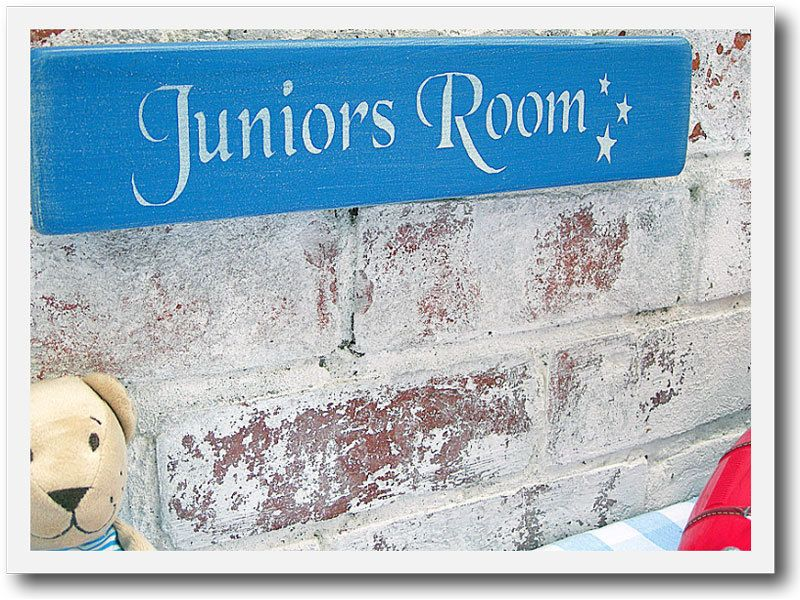 Personalised Painted Wood Name Plaque Wall Art Door Sign. $28.00, via Etsy.