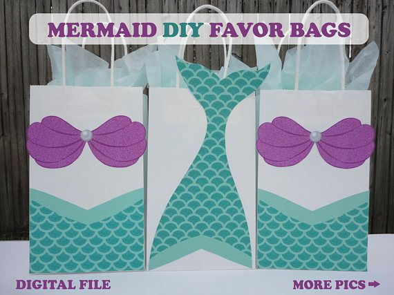 Mermaid Favor Bags Mermaid Party Bags Mermaid Birthday