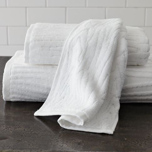 Organic Woodgrain Towel West Elm Master Bath Bath