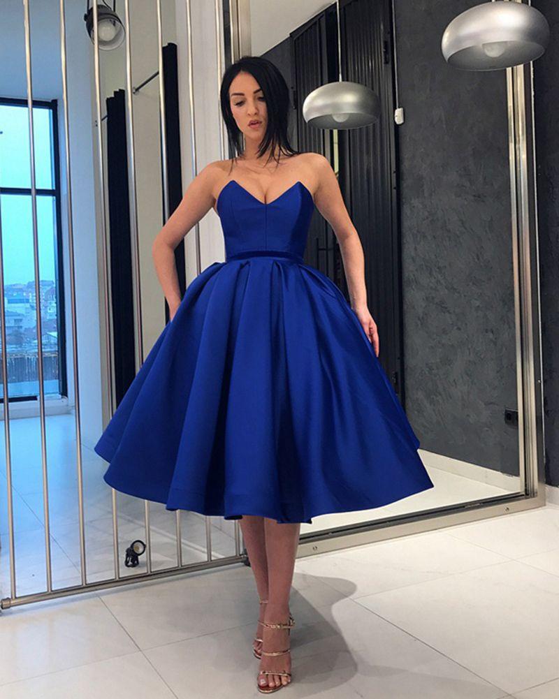 a2610bce844 Burgundy  Blue Sweetheart Knee Length Short Evening Dress Girls ...