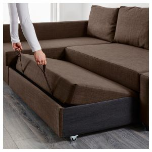 Ikea Friheten Sleeper Seat W Storage Skiftebo Brown This Sofa Converts Quickly And Easily Into A Ious Bed When You Remove The Back Cushions
