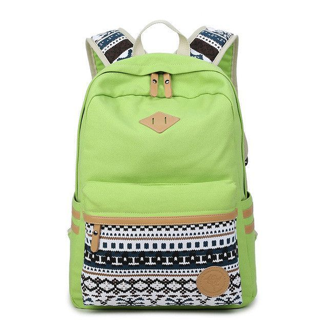 Ethnic Women Backpack for School Teenagers Girls Vintage Stylish School Bag  Ladies Canvas Backpack Female Back Pack High Quality 03b44990aed64