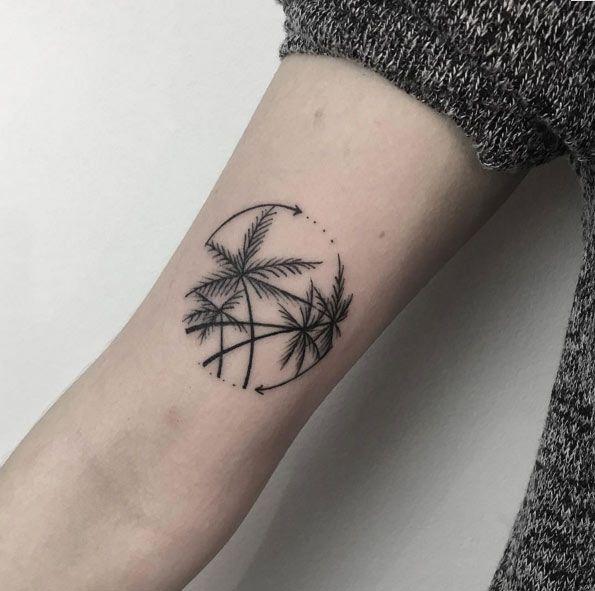 38 Alluring Palm Tree Tattoo Designs