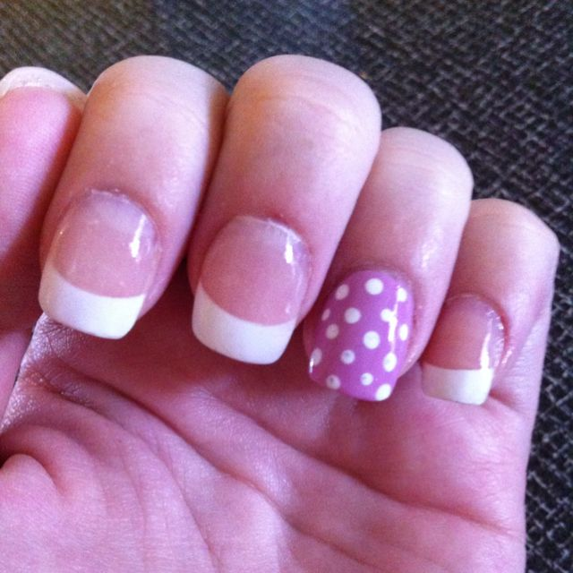 Easter nails! French tip with OPI Lucky Lucky Lavender. Done at Utopia Nails & Spa, Kenosha Wisconsin.
