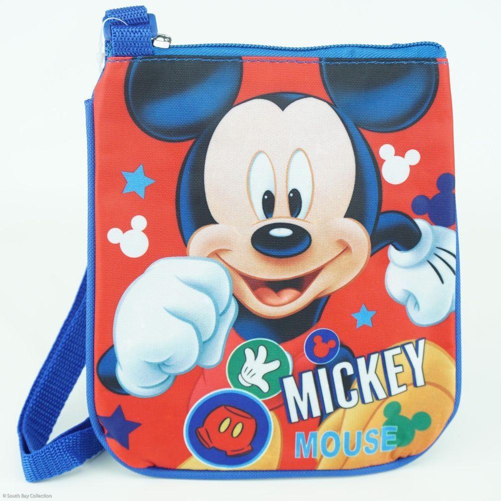 4fedce0b88 Disney Mickey Mouse Kids Shoulder Bag for Children Blue Small Flat ...