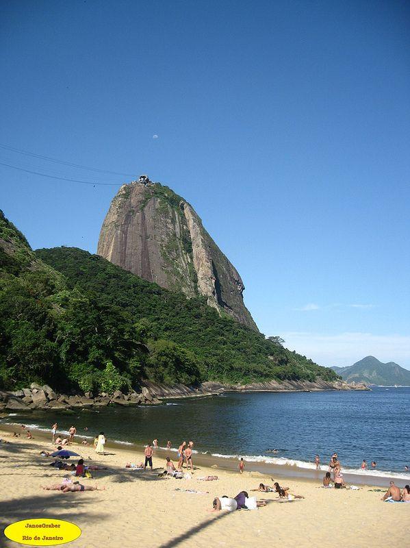 Praia A Praia Vermelha sempre é um bom local para se fotografar. Rio de Janeiro