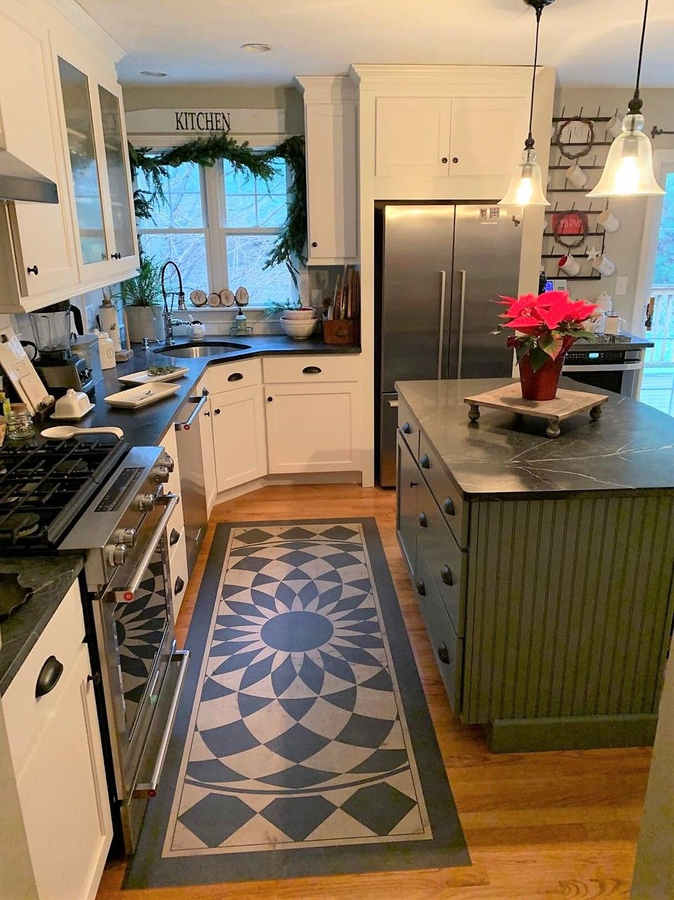 Pattern 1 We Re All Mad Here Vinyl Floor Cloth In 2020 Vinyl Flooring Floor Cloth Durable Flooring