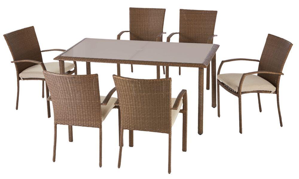 delaronde 7piece woven patio dining set
