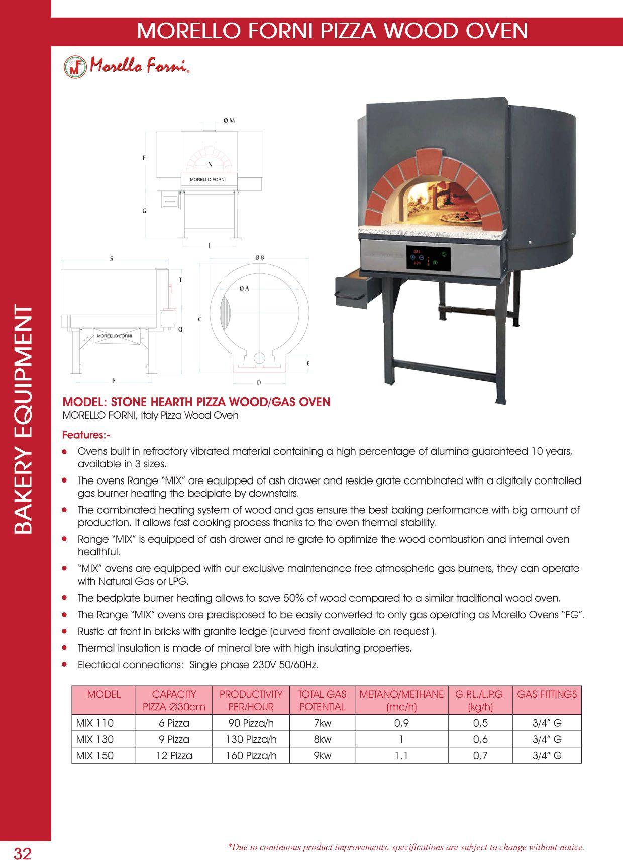 Morello Forni Pizza Wood Oven Bakery Equipment Pinterest  # Muebles Bobrick