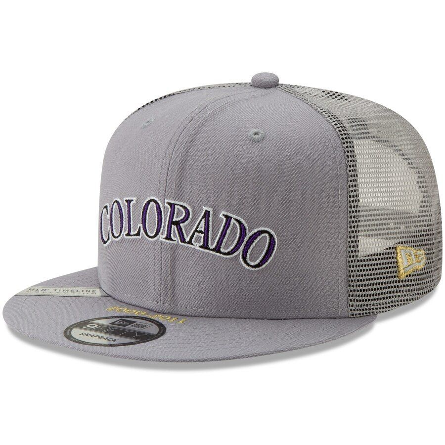 watch c5e19 f75f4 Colorado Rockies New Era Timeline Collection 9FIFTY Snapback Adjustable Hat  – Gray