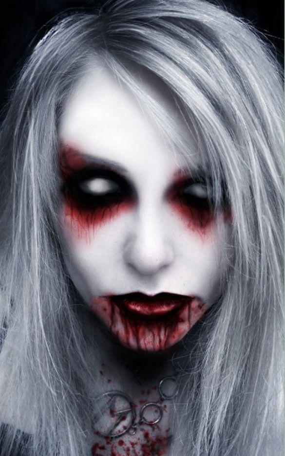 Ich finde die Augenpartie ganz geil Mit Kontaktlinsen und nicht so - terrifying halloween costume ideas