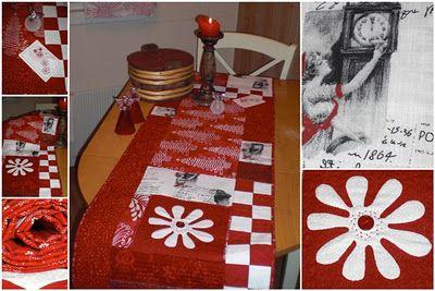 """jule løper """"Dinner for two""""  Mønsteret er hentet fra myQuilt nr.01/2011"""