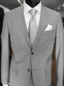 grey suit with silver tie - Google Search | Suits for Men ...
