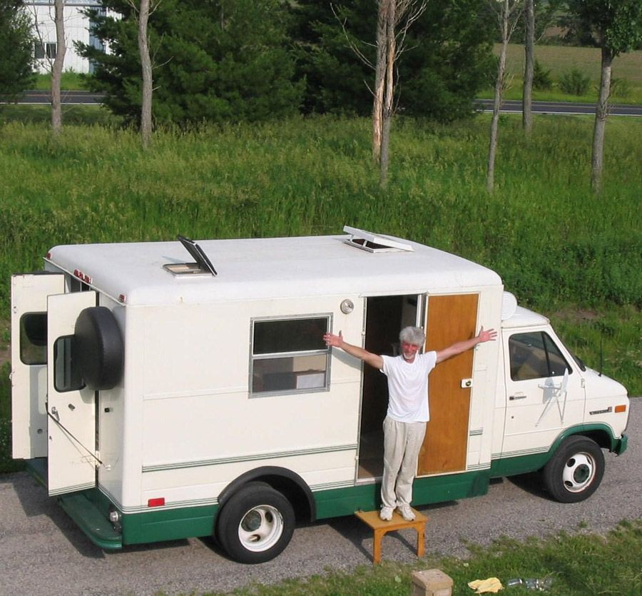 Salvaged Trailer Turned Tiny: Converted Maintenance Van