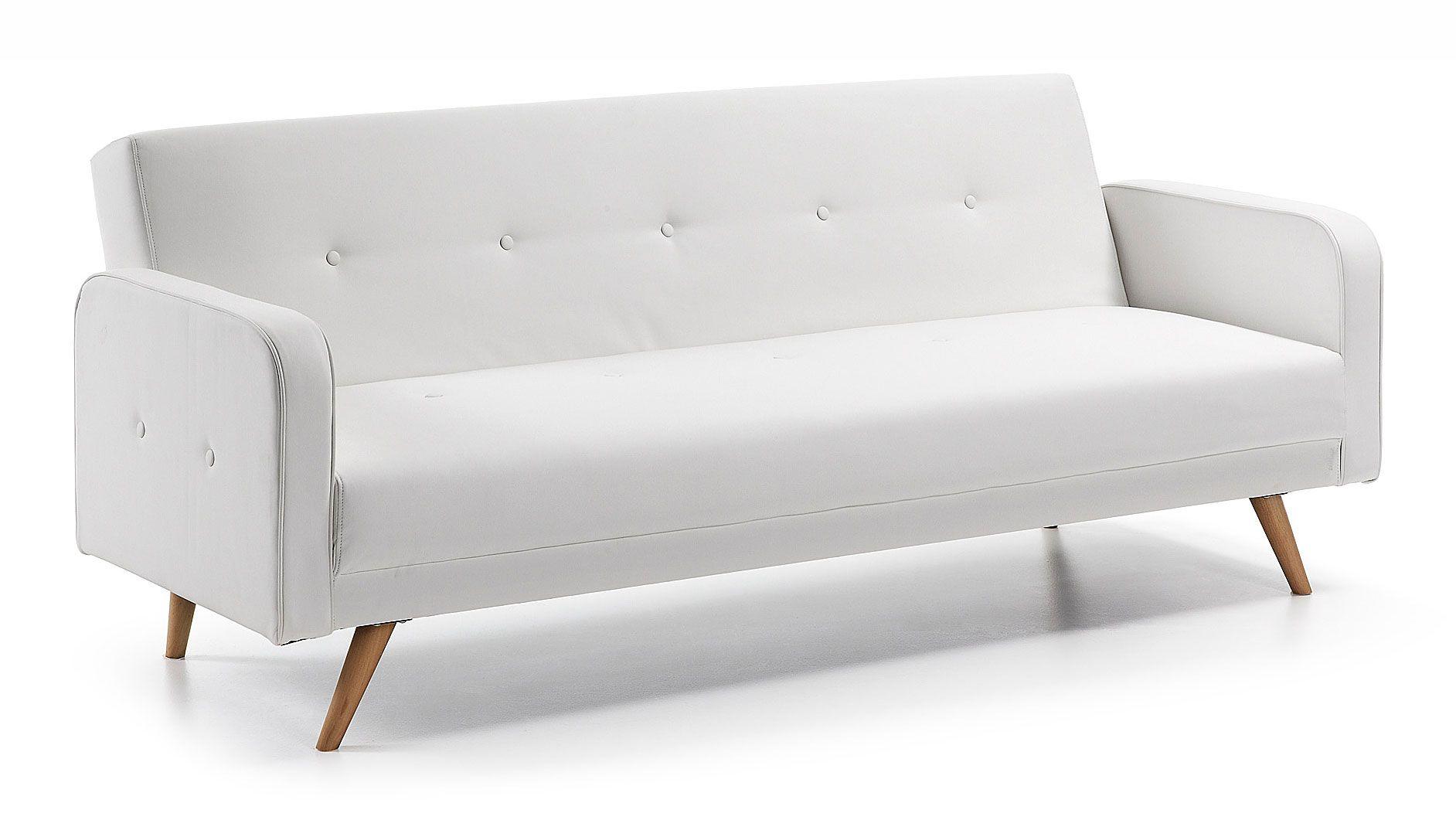Sofá cama retro blanco Roger en Portobellostreet