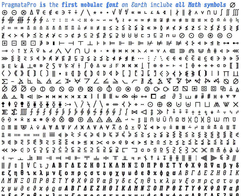 Pragmatapro 0823 Font Has Full Unicode Math Support Letras