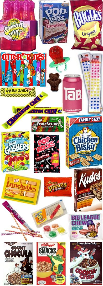 All the 80's junk food goodness!! #80sparty #partycheap