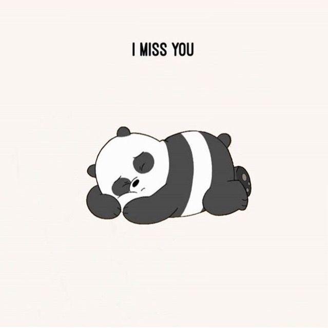 اتعلمين يا صديقتي البعيدة احبكي كثييييرا افتقدك جدا الان افتقد تلك اللحظات لتي كنا نتحدث فيها معا We Bare Bears Wallpapers Bear Wallpaper Cute Panda Wallpaper