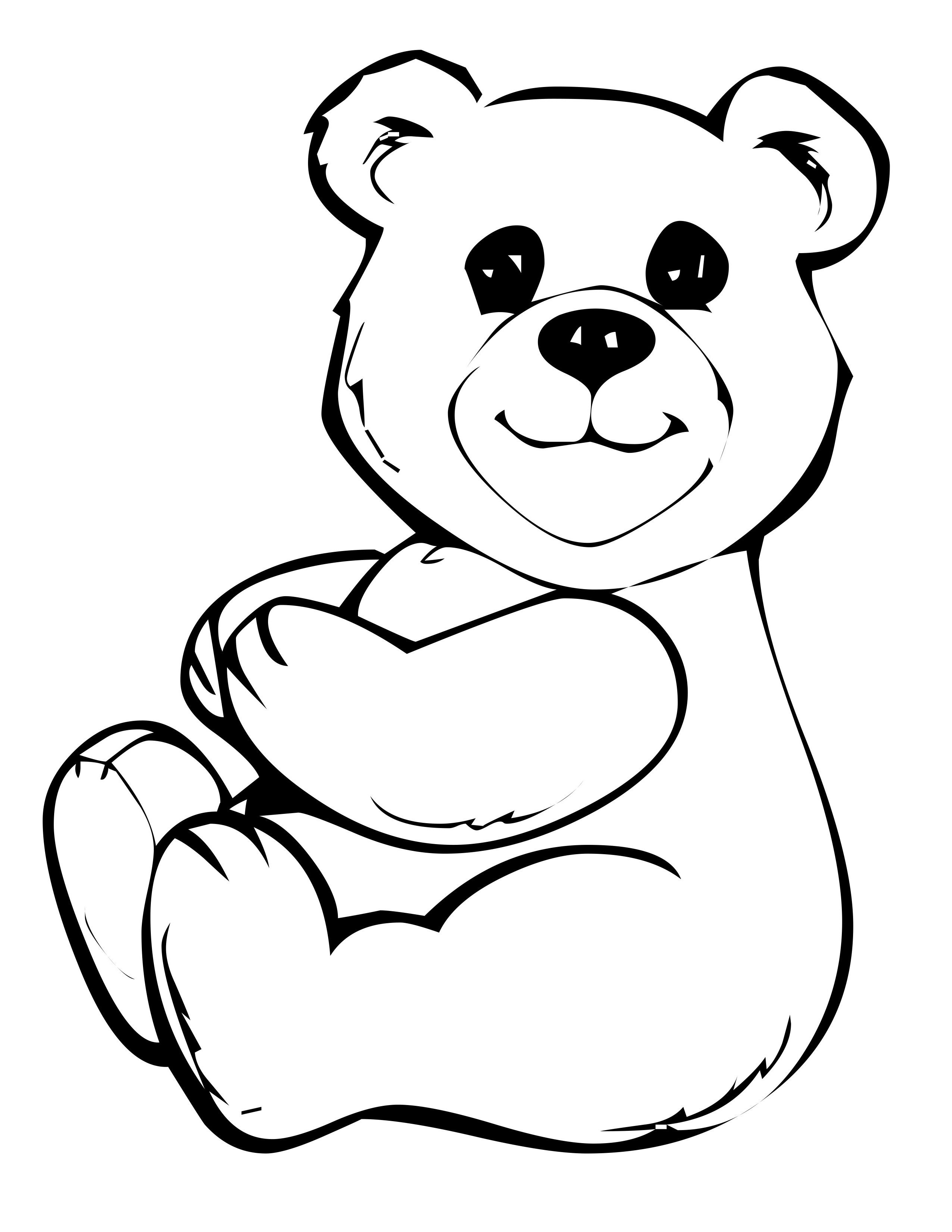 Cute Teddy Bear Coloring Pages Educative Printable Bear Coloring Pages Teddy Bear Coloring Pages Elephant Coloring Page