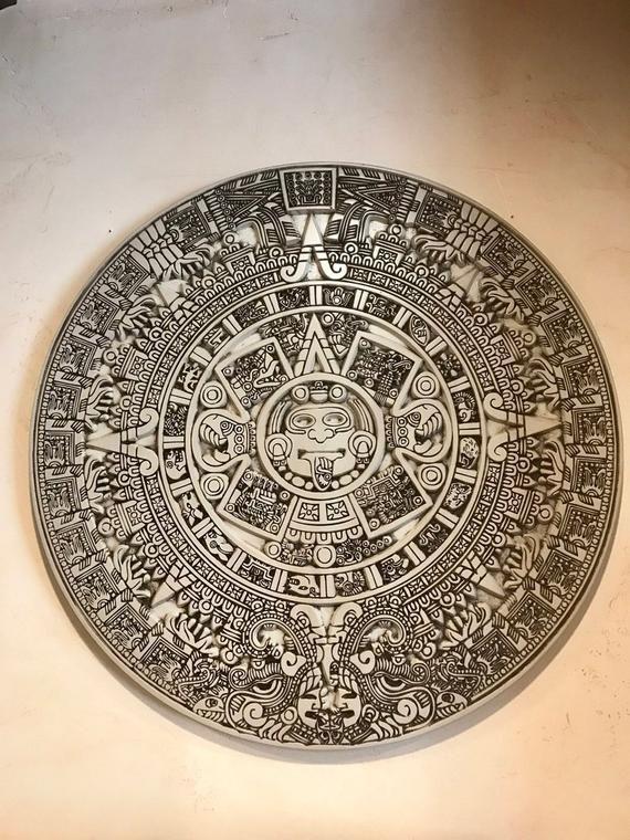 Mayan calendar Pano  Vector dxf, cdr for CNC, vector file, digital