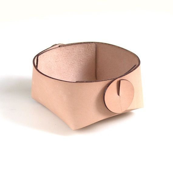 Leather catchall minimalist bedside storage or jewelry organizer