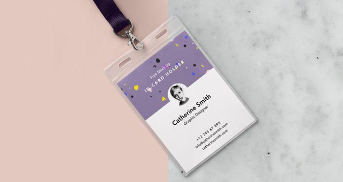 Free-ID-Card-Holder-Mockup-PSD-Download | mock up | Pinterest ...