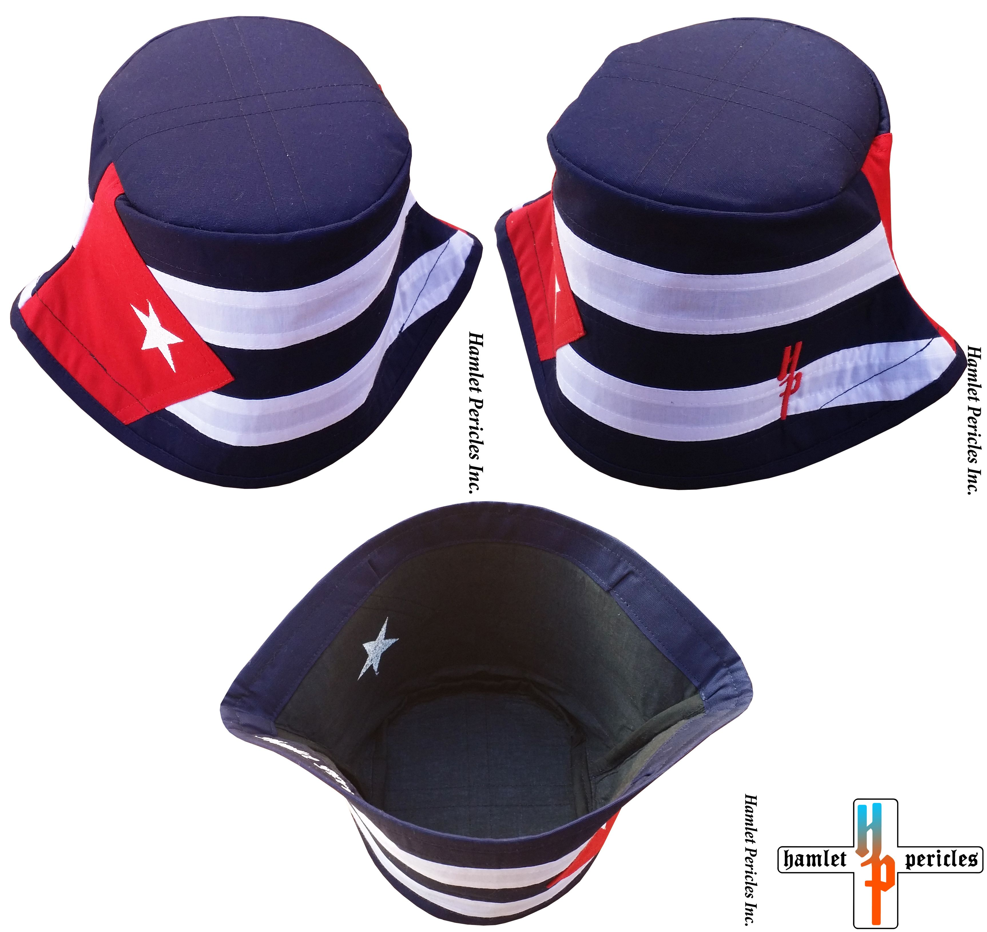 3e405ee52ca Cuba Flag Bucket hat via Hamlet Pericles