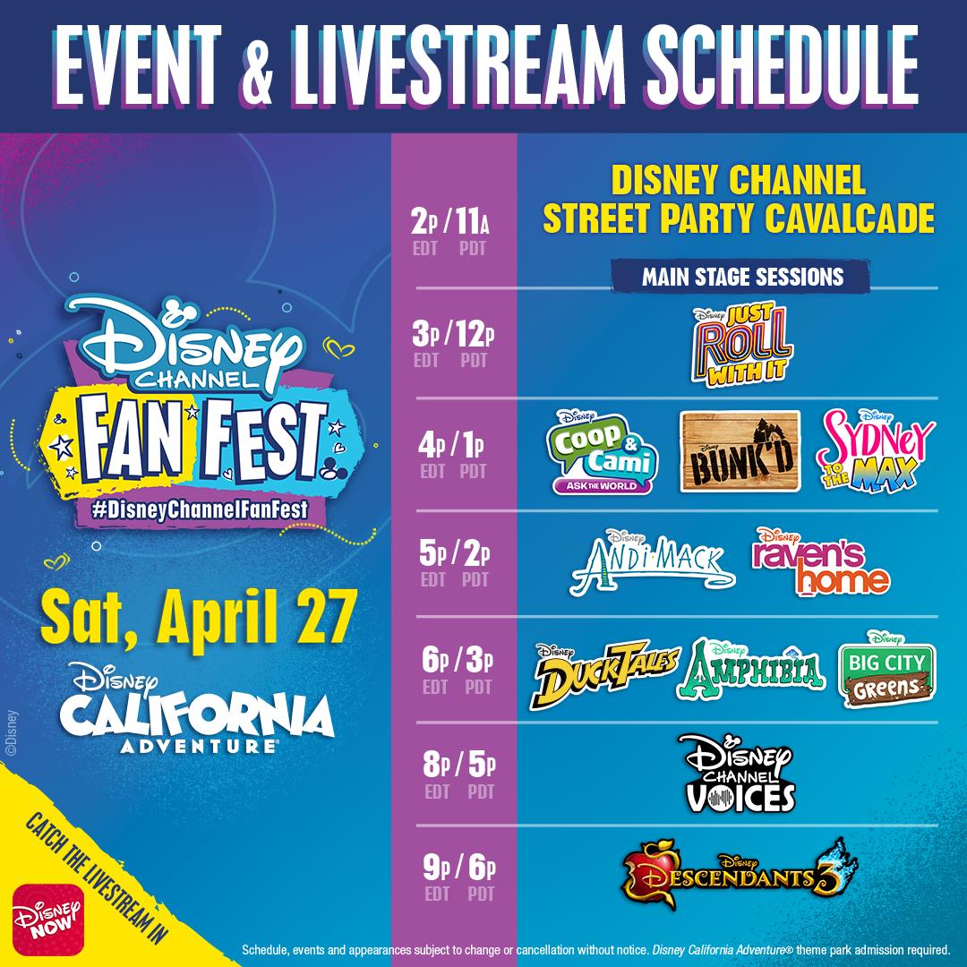 Watch The Disney Channel Fan Fest Streaming On Disneynow App Disney Channel Disney California Adventure Park Disneyland Resort