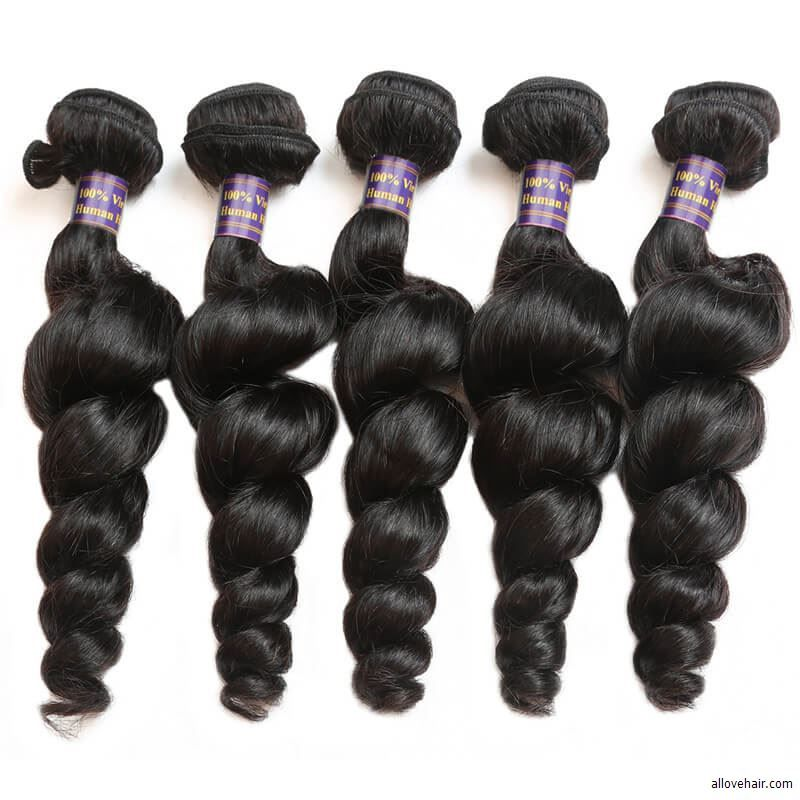Loosw Wave Weave Sew In Weave10a Malaysian Loose Curls Virgin Hair