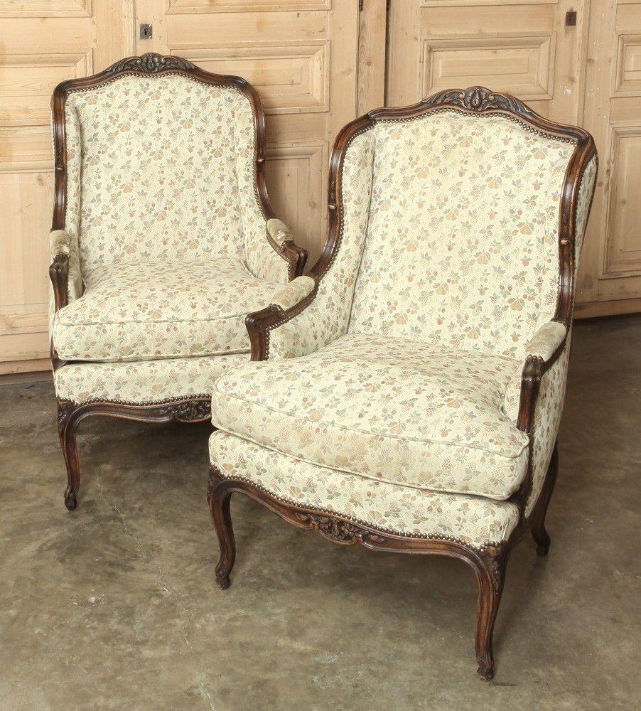 pair antique louis xv bergere armchairs inessa stewart s antiques