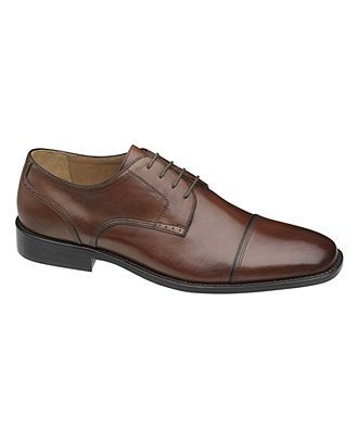 Johnston & Murphy Shoes, Knowland Cap Toe Lace Up Shoes - Mens Lace-Ups & Oxfords - Macy's