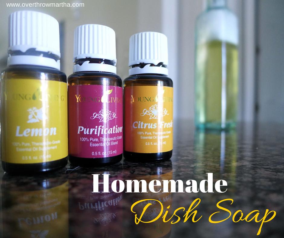 Amazingly Easy DIY Citrus Dish Soap (Overthrow Martha