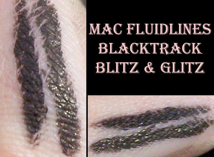 mac fluidline eyeliner gel blitz glitz