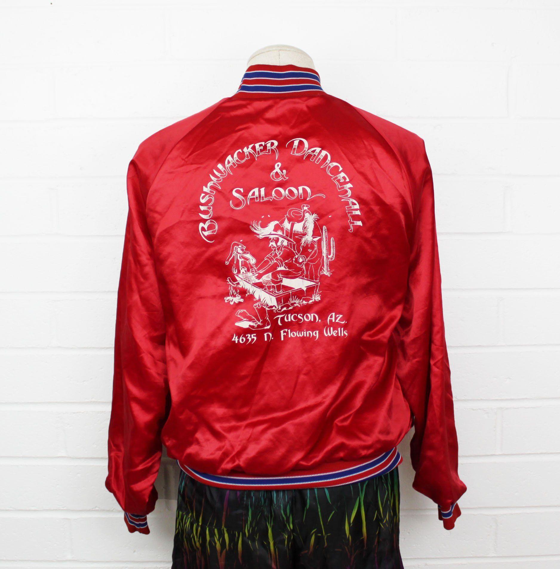 Vintage 80s Red Satin Jacket Large Saloon Dancehall Tucson Etsy Satin Jackets Jackets Satin Bomber Jacket [ 1906 x 1876 Pixel ]