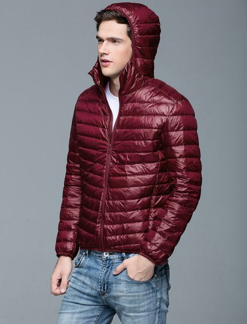 Jackets & Coats Man Winter Autumn Jacket 90% White Duck Down Jackets Men Hooded Ultra Light Down Jackets Warm Outwear Coat Parkas Outdoors Men's Clothing