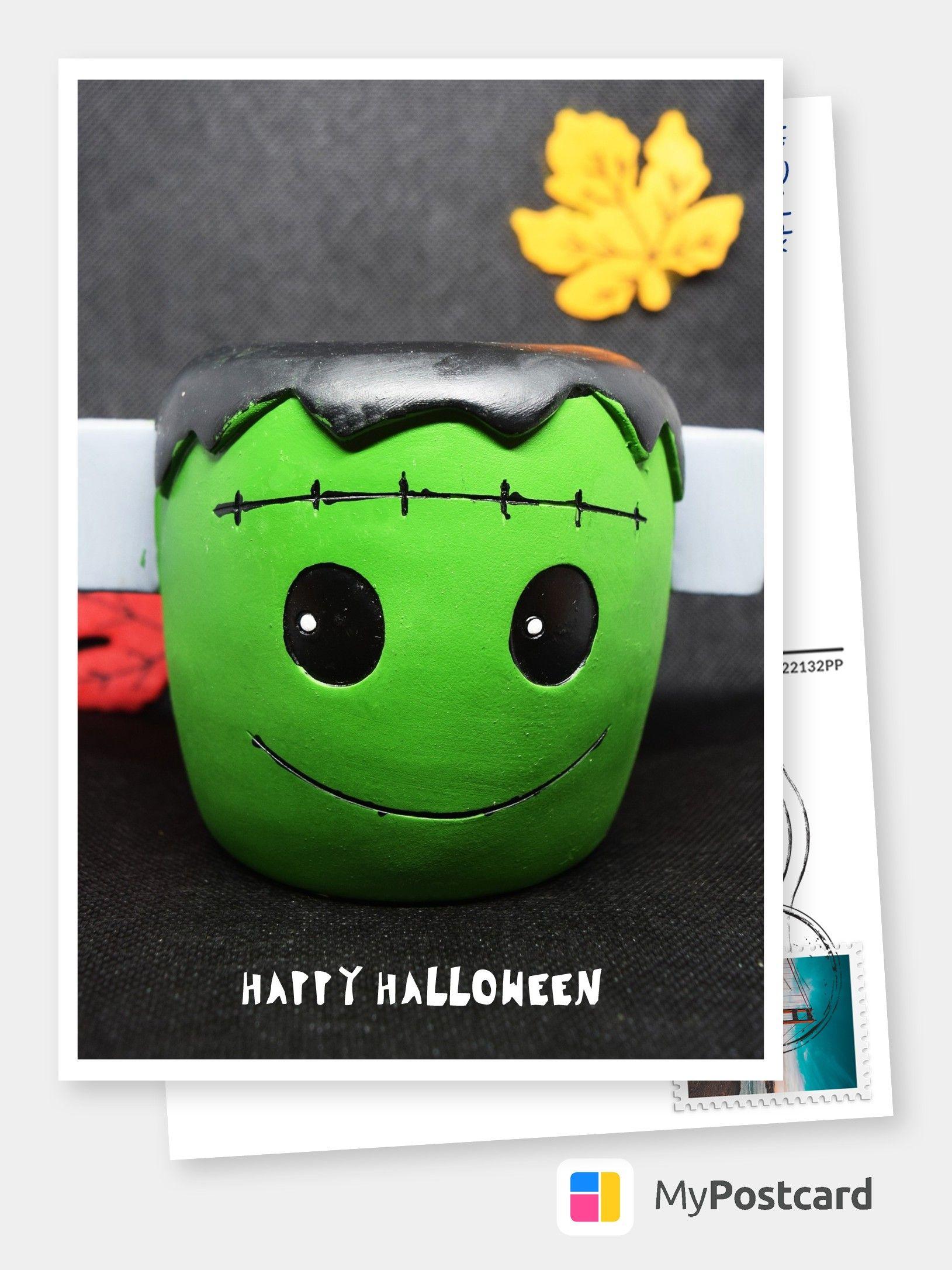 Halloween Grüße - Halloween Karte / Halloween Postkarte / Halloween Sprüche / Halloween Deko #happyhalloweenschriftzug