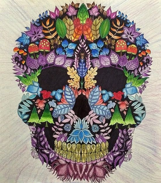 Johanna Basford Enchanted Forest Skulls