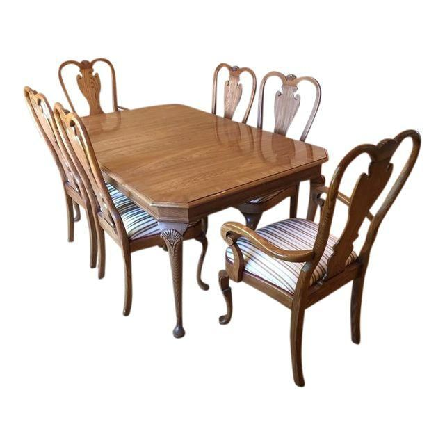 Vintage Carved Heirloom Dining Set  Set Of 7  With Coya In Mind Adorable Queen Anne Dining Room Set Design Decoration