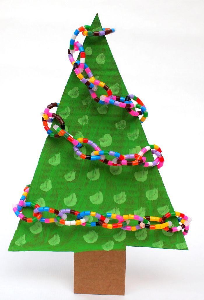 Easy Perler Bead Christmas Tree Garland Diy Christmas Tree Garland Holiday Crafts Christmas Christmas Tree Garland