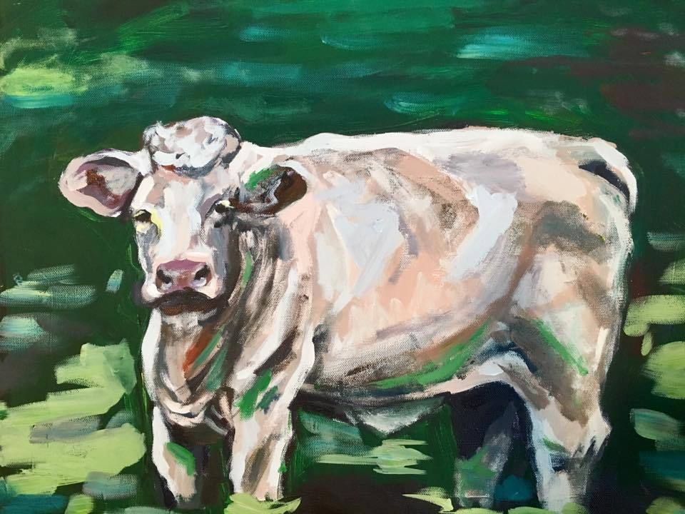 Original Cow Painting Original Cow Painting For Sale Now On Ebay Free Shipping Too Impressionist With Images Cow Painting Painting Paintings For Sale