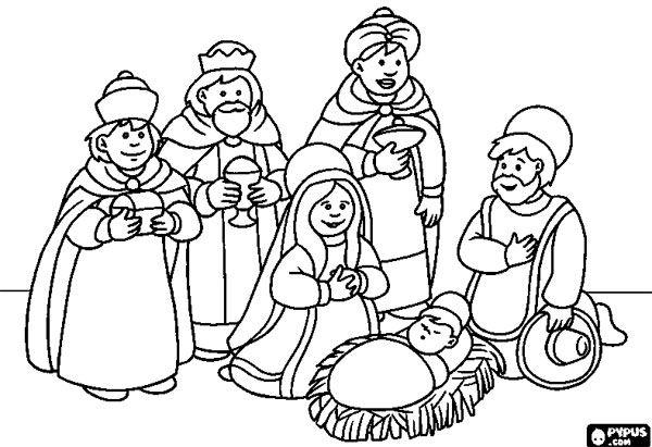 10 Dibujos De Los Reyes Magos Para Colorear Gratis Pequeocio Nacimiento Para Colorear Jesus Para Colorear Paginas Para Colorear De Navidad
